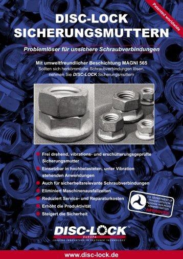 DISC-LOCK SICHERUNGSMUTTERN - DISC-LOCK Europa GmbH