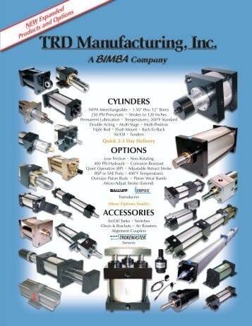 The items listed below are all included in TRD's ... - Fluidraulics Inc