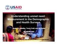 Understanding unmet need - International Conference on Family ...