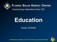 Overview of Education and Job Training - Florida Solar Energy ...