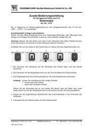 Zusatz-Bedienungsanleitung Solarmodul - Betting und Buss Gbr