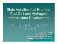 State Activities that Promote Fuel Cell and ... - Fuel Cells 2000
