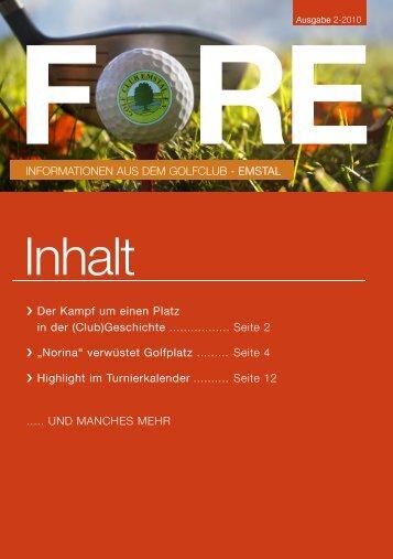 Ausgabe 2 / 2010 - Golfclub Emstal eV