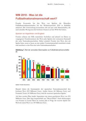 Wert von Nationalmannschaften.pdf - Frontier Economics