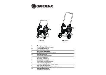 OM, Gardena, Dévidoir portable / Dévidoir sur roues, Art 02691-20 ...