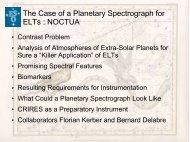 The Case of a Planetary Spectrograph for ELTs : NOCTUA