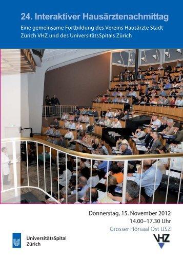 24. Interaktiver Hausärztenachmittag - Fortbildung ...