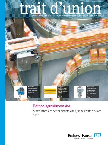 Edition agroalimentaire - Endress + Hauser