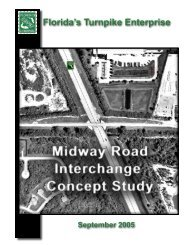 Midway Road Interchange Concept Study - Florida's Turnpike