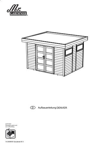 montageanleitung f r ger tehaus nyland gartenhaus park. Black Bedroom Furniture Sets. Home Design Ideas