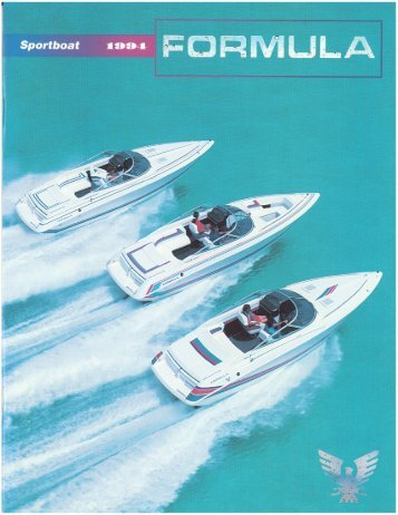1994 Formula SportBoat Brochure.pdf - Formula Boats