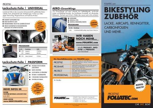 BIKESTYLING ZUBEHÖR - Foliatec