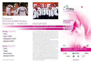 Deutschland – Frankreich FED CUP 2010 - FTC Palmengarten