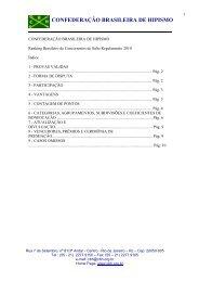 Regulamento Ranking Brasileiro 2010 - FPH