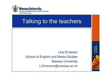 Talking to the teachers - Flinders University