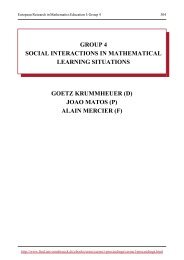 group 4 social interactions in mathematical learning situations