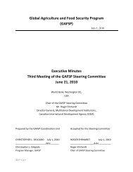 Third Steering Committee Meeting Minutes - GAFSP