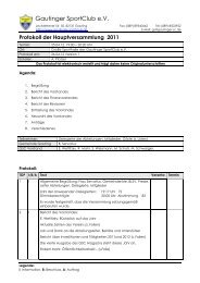Protokoll der Hauptversammlung - Gautinger Sportclub e.V.