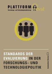 standards der evaluierung in der forschungs– und ... - fteval