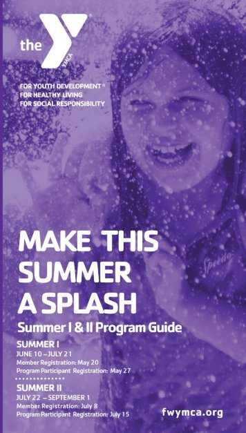 Download our Program Guide - YMCA of Greater Fort Wayne