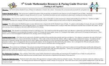 pacing guide english i gaston county schools rh yumpu com Everyday Mathematics Grade 5 Maps Mathematics Curriculum Grade 3 Module 2