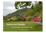 Folien «Garten und Therapie - Gartentherapie Thomas Pfister