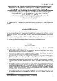 Verordnung (EG) Nr. 245/2009 der Kommission zur Durchführung ...