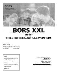 BORS - Konzept 2012 / 2013 - auf der Website der Friedrich ...