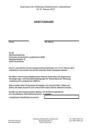 GEBOTSABGABE - Schleswig-Holsteinische Landesforsten