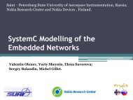 SystemC Modelling of the Embedded Networks - Fruct.org