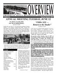 Spring issue #33 - Franklin Hills Residents Association