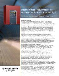 Sistema direccionable inteligente de alarma de ... - Fire-Lite Alarms