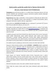 Celá pravidla soutěže (v PDF) - OC Futurum Kolín