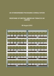 Standardised Packaging for Tobacco Products Review of ...