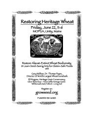 Final Landrace Wheat Conference 6/12