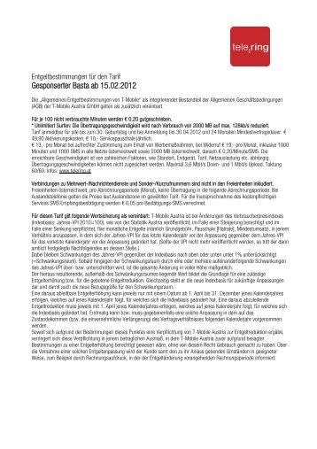 Gesponserter Basta ab 15.02.2012