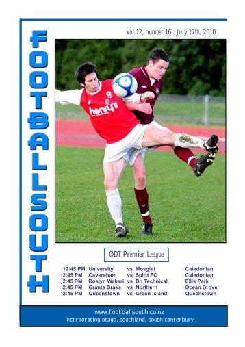 17th July 2010 - Football South