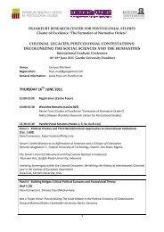 FRCPS IGC 2011-Program 25 05 2011 - Frankfurt Research Center ...