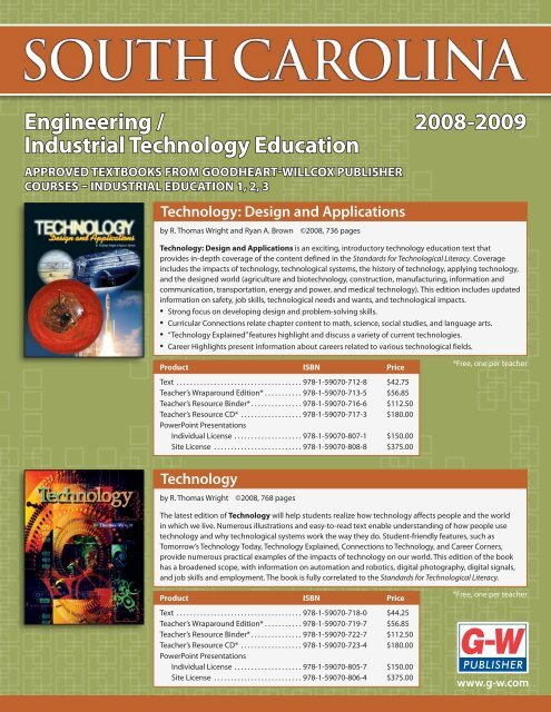 2008-2009 Engineering / Industrial Technology Education