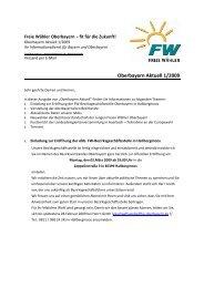 FW-Oberbayern-Aktuell 1-2009 - Freie Wähler Oberbayern