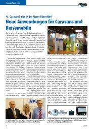 Neue Anwendungen für Caravans und Reisemobile - Flüssiggas ...