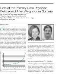 Role of the Primary Care Physician Before and After Weight-Loss ...