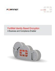 FortiMail Identity Based Encryption - Fortinet