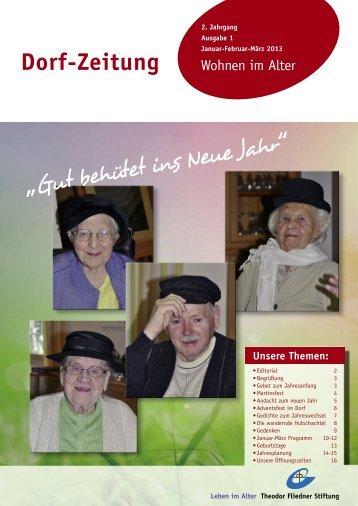 Dorf-Zeitung Januar - Februar - März 2013 - Theodor Fliedner Stiftung