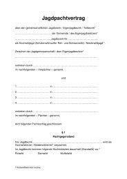 Jagdpachtvertrag - Landesjagdverband Rheinland-Pfalz