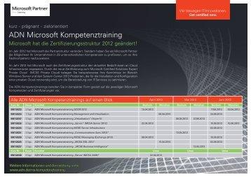 ADN Microsoft Kompetenztraining
