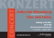Jodlerclub Wiesenberg Chor viril Falera - Flims