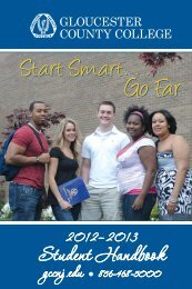 2012-2013 Student Handbook - Gloucester County College