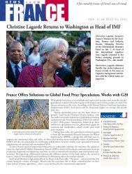 Vol. 11.06 - July 31, 2011 - Embassy of France