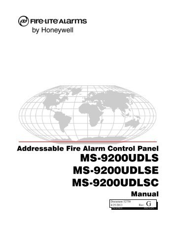 MS-9200UDLS(E) Rev 3 - Fire-Lite Alarms